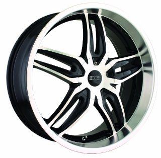 18x7.5 DIP Bionic (D63) (Black w/ Machined Face & Lip) Wheels/Rims 4x100/114.3 (D63 8701B) Automotive