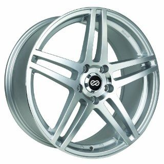 18x8 Enkei RSF5 (Silver Machined) Wheels/Rims 5x114.3 (479 880 6550SM) Automotive