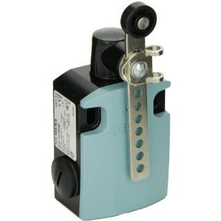 Siemens 3SE5 122 0BH60 International Limit Switch Complete Unit, Twist Lever, Adjustable Length, 56mm Metal Enclosure, Metal Lever With Grid Hole, 19mm Plastic Roller, Slow Action Contacts, 1 NO + 1 NC Contacts
