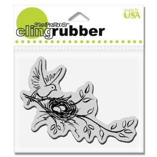 Stampendous CRP122 Cling Rubber Stamp, Nesting Bird Arts, Crafts & Sewing