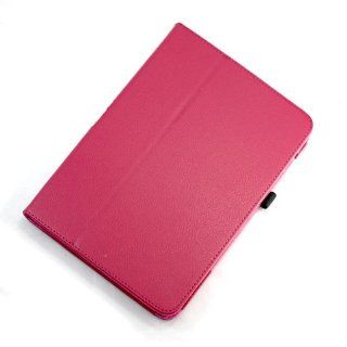 [Aftermarket Product] Brand New Violet Red Faux PU Leather Flip Folio Stand Case Cover For Samsung Galaxy Note 10.1 N8000 Cell Phones & Accessories
