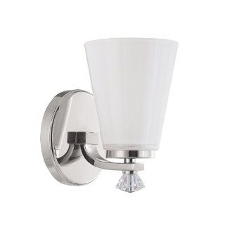 Capital Lighting 8021PN 127 Alisa 1 Light Wall Sconce, Polished Nickel Finish with Milk Glass Shade