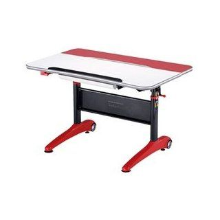 SJ 127 Ergonomic Height Adjustable Desk for Children   Red