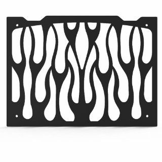Ferreus Industries   Yamaha FZ1 FZS 1000 Flame Black Powdercoated Radiator Grille   GRL 133 02black Automotive