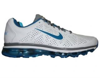 Nike Air Max+ 2011 Leather Mens Running Shoes [456325 141] White/Imperial Blue Stealth Mens Shoes 456325 141 7 Shoes