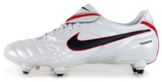 Nike Tiempo Legend III SG Mens Soccer Cleats [366202 136] White/Seaweed Sport Red Mens Shoes 366202 136 6 Shoes