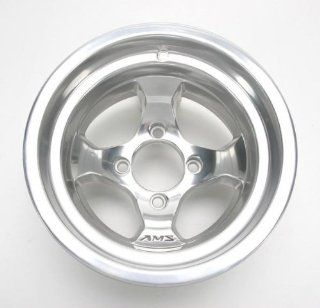 AMS Cast Aluminum Utility ATV Wheel   12x7   4+3 Offset   4/137   Polished, Wheel Rim Size 12x7, Rim Offset 4+3, Color Polished, Bolt Pattern 4/137, Position Front 0021270F POL Automotive