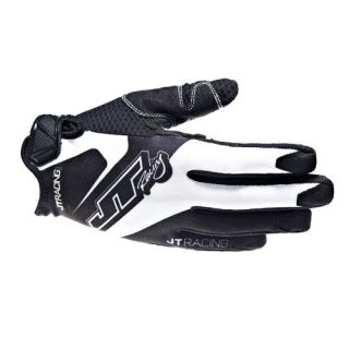 JT Racing Evo Lite Race Gloves   Black White 2013