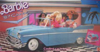 Barbie 57 Chevy Bel Air Convertible Car   Coolest Car in Town (1989 Mattel Hawthorne) Toys & Games