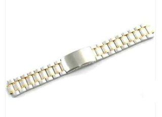 Men's Two  Tone Stainless Steel Watch Band 10mm H149