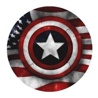 Custom Captain America Shield Mouse Pad Standard Round Mousepad WP 146