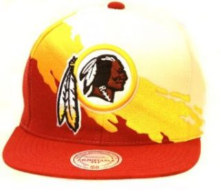 Mitchell & Ness Kansas City Chiefs NFL Snapback Hat, White/Red/Yellow + GT Sweat Wristband Clothing