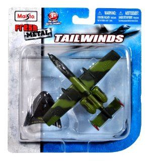 Maisto Fresh Metal Tailwinds 1153 Scale Die Cast United States Military Aircraft  U.S. Air Force Single Seat, Twin Engine, Straight Wing Jet, Close Air Support (CAS) of Ground Forces Aircraft A 10A Thunderbolt II aka Warthog with Display Stand (Dimension