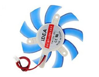 Silent 2 pin Graphics Video Card Cooling Fan (Blu Electronics
