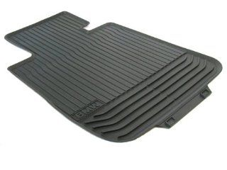 BMW 51 47 2 152 348 5 Series Rubber Floor Mat   Black Front (Set of 2) Automotive
