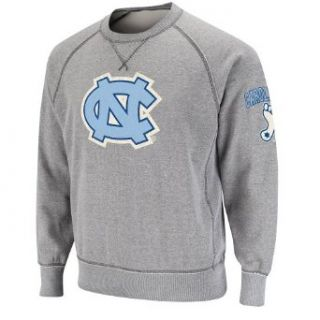 NCAA North Carolina Tar Heels Outlaw Crewneck Fleece (Heather Grey, Small) Sports & Outdoors