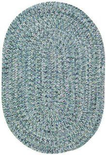 Blue Indoor/Outdoor Solid rug by Capel Sea Pottery in 2'x8'   Area Rug Accessories