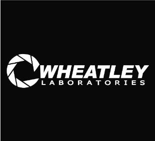 "Aperture Science Wheatley Laboratories Portal Logo Vinyl Die Cut Decal Sticker 8.50"" White"