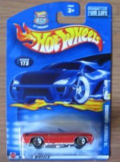 Hot Wheels 2002 '70 Plymouth Barracuda 173 Red Convertible Toys & Games