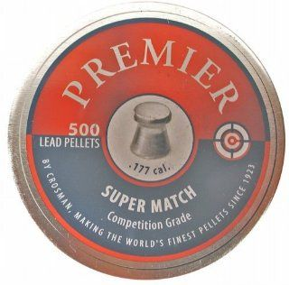 Crosman Premier Flat Match 500 count .177 caliber 7.9 grain Match Wadcutter Pellets (in a Tin) Sport, Fitness, Training, Health, Exercise Gear, Shape UP  Airsoft Pellets  Sports & Outdoors