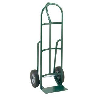 "Little Giant T 182 10 Steel Industrial Strength Hand Truck with Loop Handle, 10"" Solid Rubber Tire Wheel, 800 lbs Capacity, 49"" Height"