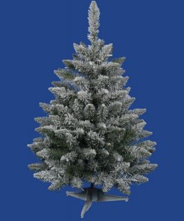 Vickerman 3 ft. Flocked Sugar Pine Christmas Tree   Christmas Trees