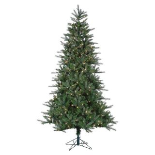 7.5 ft. Pre Lit Natural Cut Franklin Spruce Christmas Tree   Christmas Trees