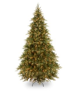 7.5 ft. Feel Real Weeping Spruce Medium Hinged Pre Lit Christmas Tree   Christmas Trees