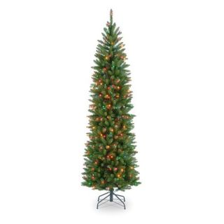 7.5 ft. Kingswood Fir Hinged Pencil Pre Lit Christmas Tree   Christmas Trees