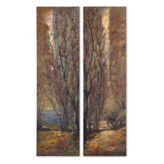 Tree Panels Wood Wall Art   Set of 2   20W x 70H in.   Wall Sculptures and Panels