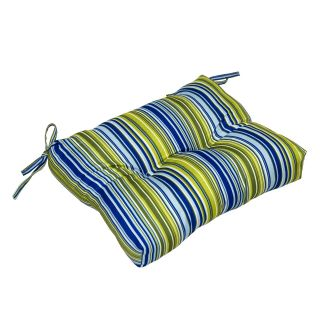 Greendale Home Fashions Indoor Dining Chair Cushion   17 x 15 in.   Vivid Stripe   Dining Chair Cushions