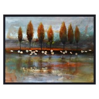 Yosemite Home Decor Autumn Reflection Wall Art   47.5W x 31.5H in.   Hand Painted Art