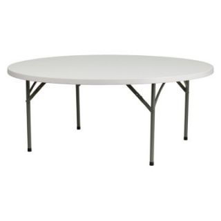 Round Folding Table   Granite White   Folding Tables