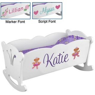 KidKraft Personalized Lil Doll Cradle   Toys and Playsets