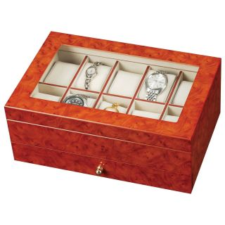 Peyton Wooden Watch Box   11.6W x 4.75H in.   Watch Winders & Watch Boxes