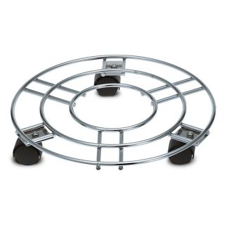 Chrome Plated Steel Planter Wheels   Planter Accessories