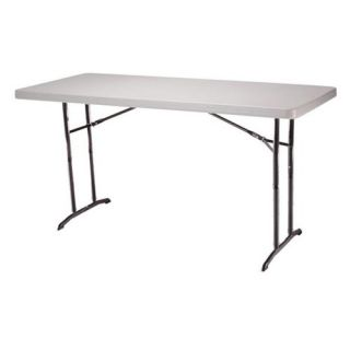 Lifetime 6 ft. Rectangle Commercial Adjustable Height Folding Table   White   Banquet Tables