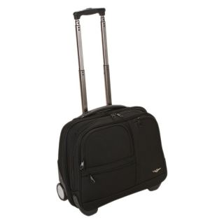 Rockland Luggage Black Rolling Computer Case   Business and Laptop Bags