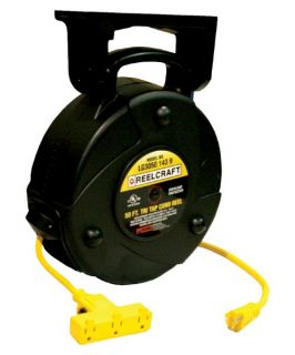 Reelcraft Medium Duty Cord Reel with Triple Outlet   Equipment