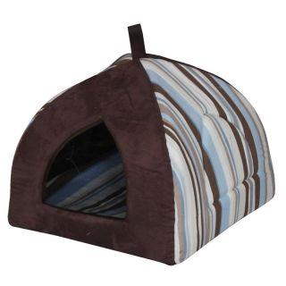 Pet Pals Group Striped Hooded Pet Bed   Cat Beds