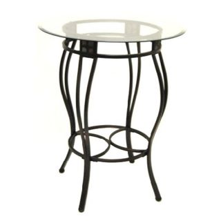 Boraam Beau Metal Pub Table with Glass Top   Pub Tables