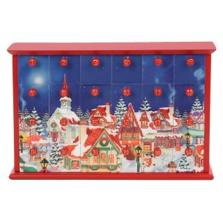 Kurt Adler 12.4 in. Advent Calendar with 24 Empty Drawers   Christmas