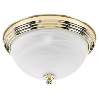 Sea Gull Bathroom Ceiling Light   12.5W in. Polished Brass   Ceiling Lighting