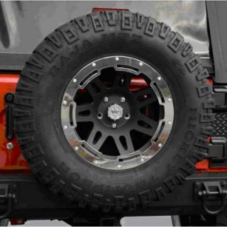 2007 2010 Jeep Wrangler (JK) Wheel Trim Ring   Rugged Ridge, Direct fit, 17 in., Polished