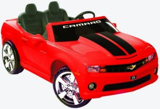 Chevrolet Racing Camaro 12V 2 Seater Battery Powered Riding Toy   Red   Battery Powered Riding Toys