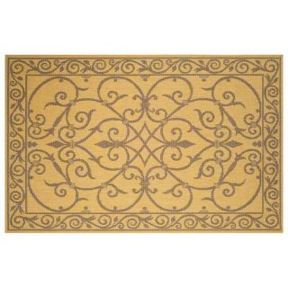 Trans Ocean Terrace Wrought Iron Indoor/Outdoor Rug   Natural   Area Rugs