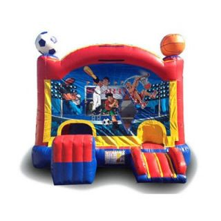 EZ Inflatables Digital Sports Combo Bounce House   Commercial Inflatables