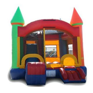 EZ Inflatables Rainbow Castle Combo Bounce House   Commercial Inflatables