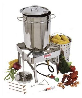 Bayou Classic Complete Stainless Steel Turkey Fryer Kit   32 qt.   Turkey Fryers