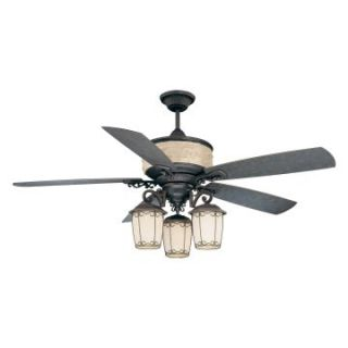 Ellington AST60BBZ5CRW Austonia 60 in. Indoor/Outdoor Ceiling Fan   Blacksmith Bronze   Outdoor Ceiling Fans